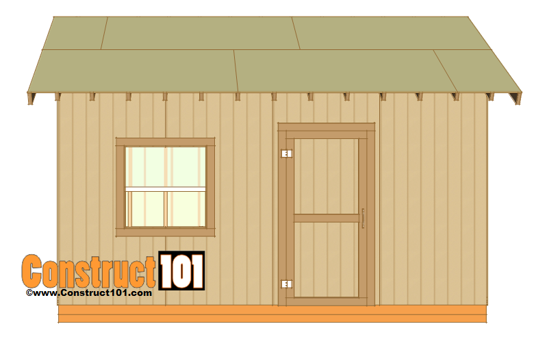 12x16 shed plans - roof deck