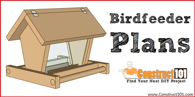 Bird feeder plans - free PDF download - DIY birdfeeder at Construct101