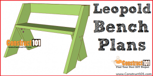 eopold bench plans - free PDF download, DIY projects at Construct101