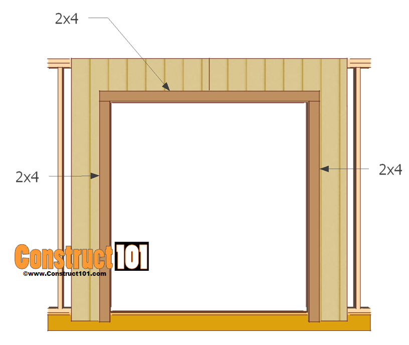 double shed door plans trim