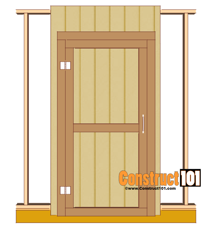shed door plans  sc 1 st  Construct101 & Shed Door Plans - PDF Download - Construct101