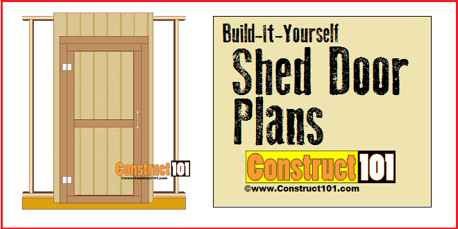 Shed Door Plans -Step-By-Step  sc 1 st  Construct101 : build door - pezcame.com