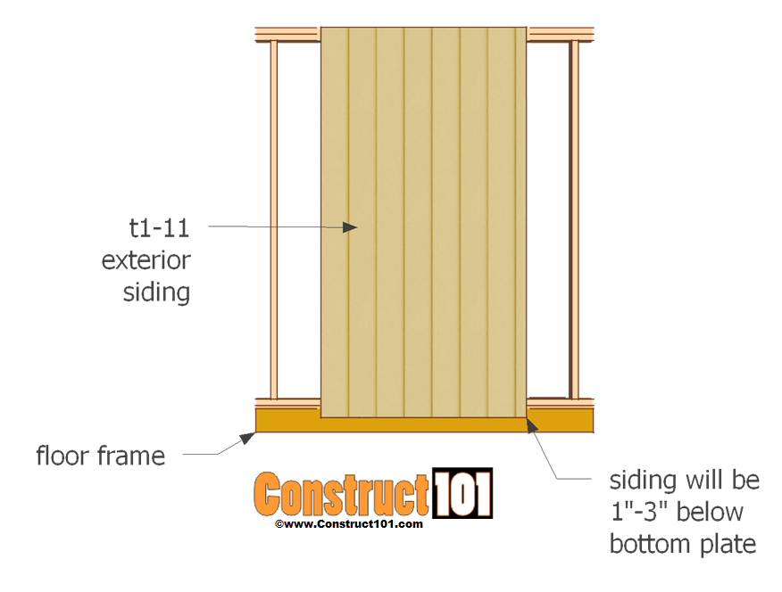 single shed door plans - siding