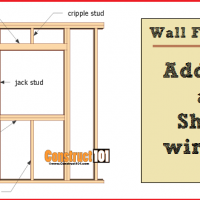 wall framing - adding a shed window