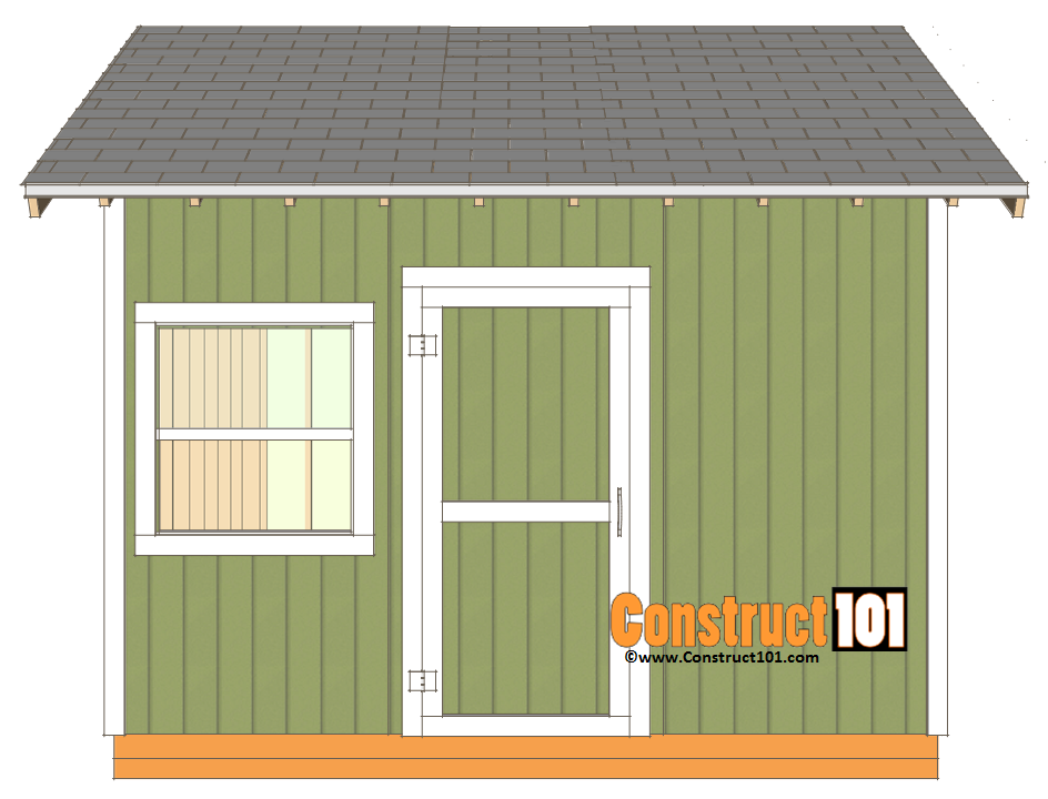 12x12 shed plans gable shingles and corner trim