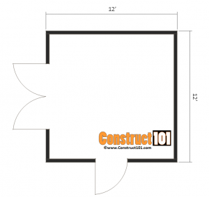 12x12 shed plans gable floor view