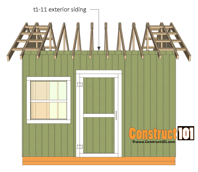 12x12 shed plans gable truss block siding
