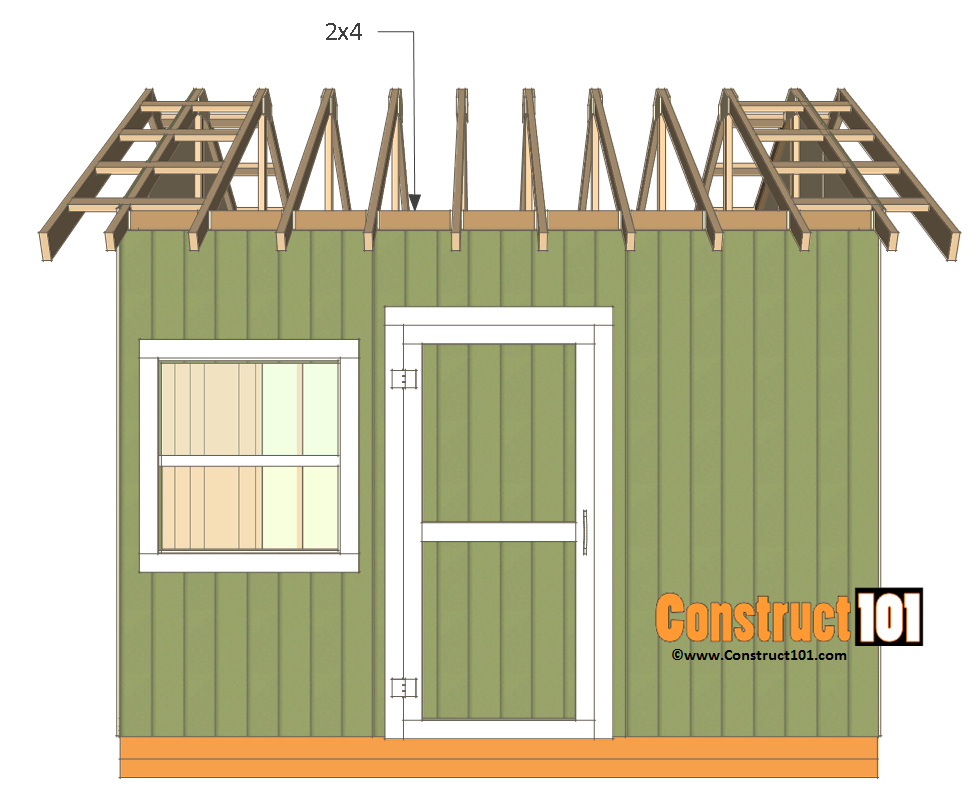12x12 shed plans gable truss blocks