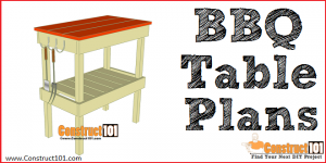 BBQ table plans - free PDF download, step-by-step DIY projects at Construct101