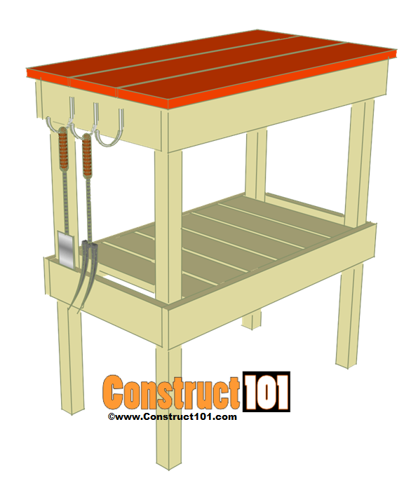 Bbq table plans construct101 for Small table plans free