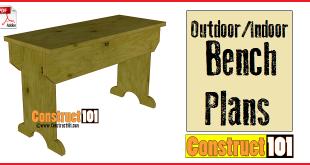 outdoor / indoor bench plans