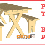 Build it yourself picnic table & bench plans, includes free PDF download.