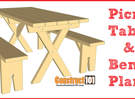 picnic table & bench plans featured