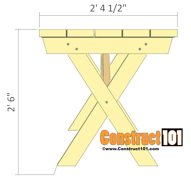 Picnic Table Plans Detached Benches Free Pdf Download