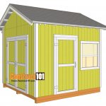 10x10 shed plans gable shed
