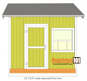 10x10 shed plans gable shed front view