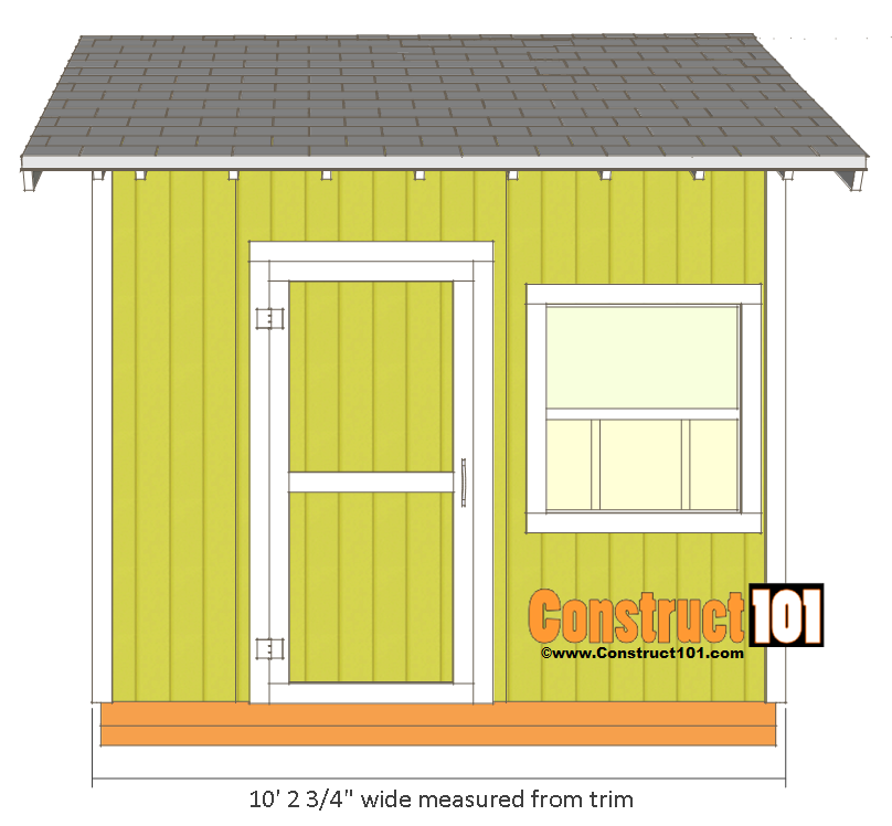 Shed Plans - 10x10 Gable Shed - Construct101
