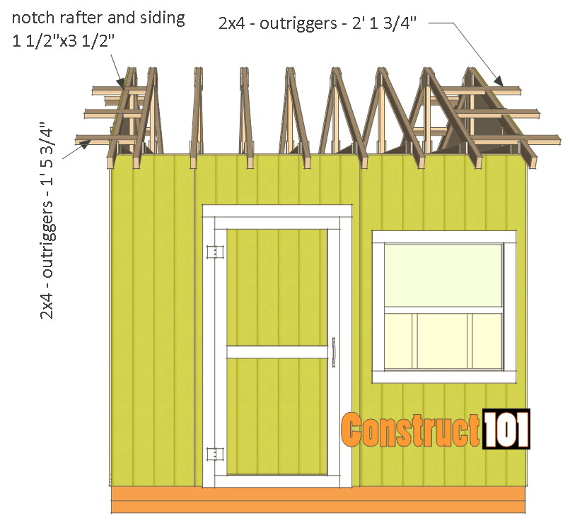 shed plans 10x10 gable shed outriggers