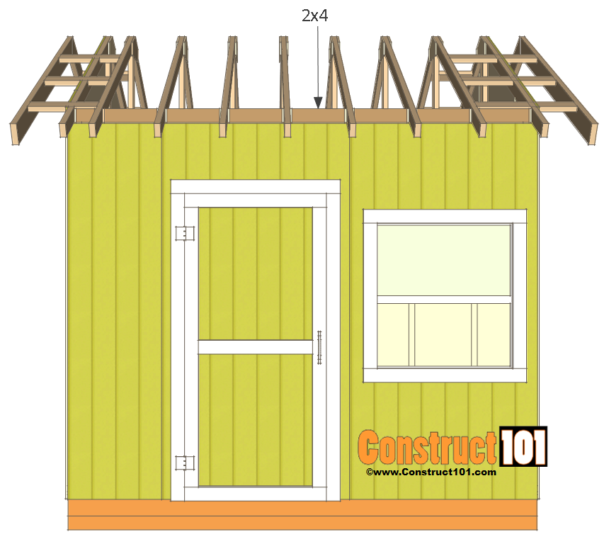 shed plans 10x10 gable shed rafter block