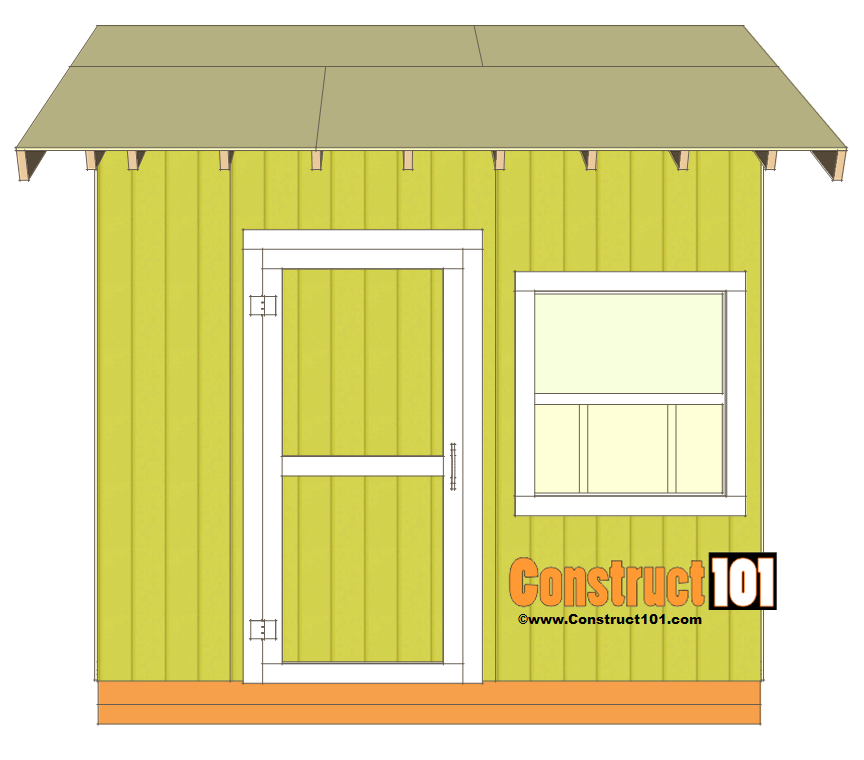 Shed plans 10x10 gable shed construct101 for Gable barn plans