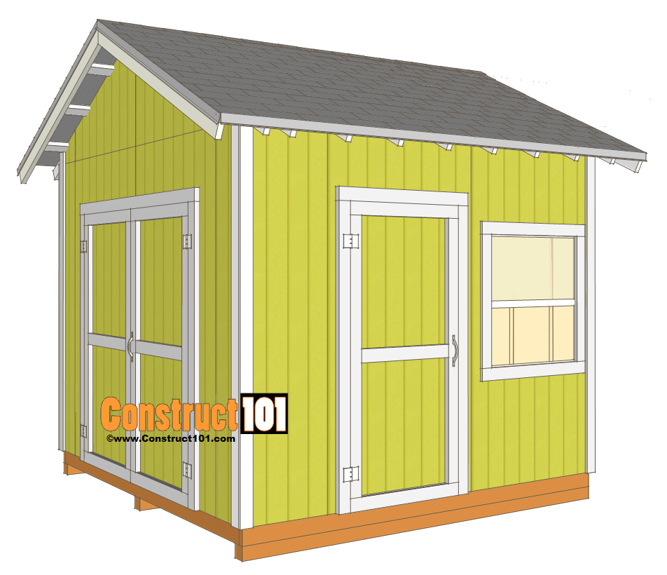 10x10 barn shed plans with loft front view 6x8 for Barn plans