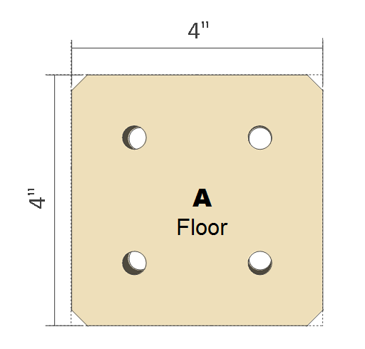Bluebird house plans - floor.