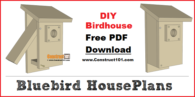 Bluebird house plans - free PDF download.