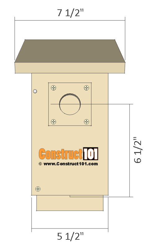 Bluebird house plans front view.