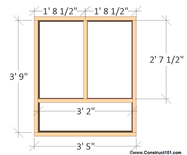 chicken coop plans - design #2 left wall frame