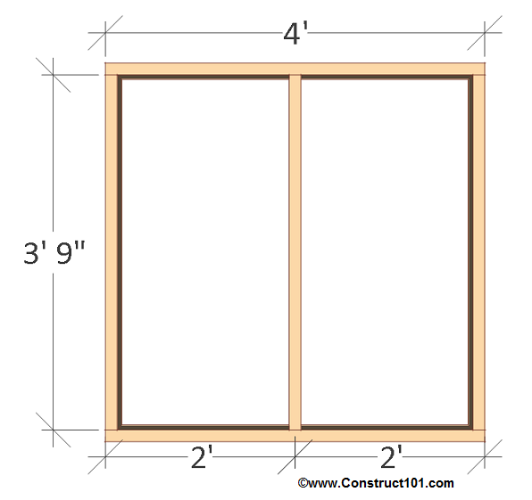 chicken coop plans - design #2 back wall frame