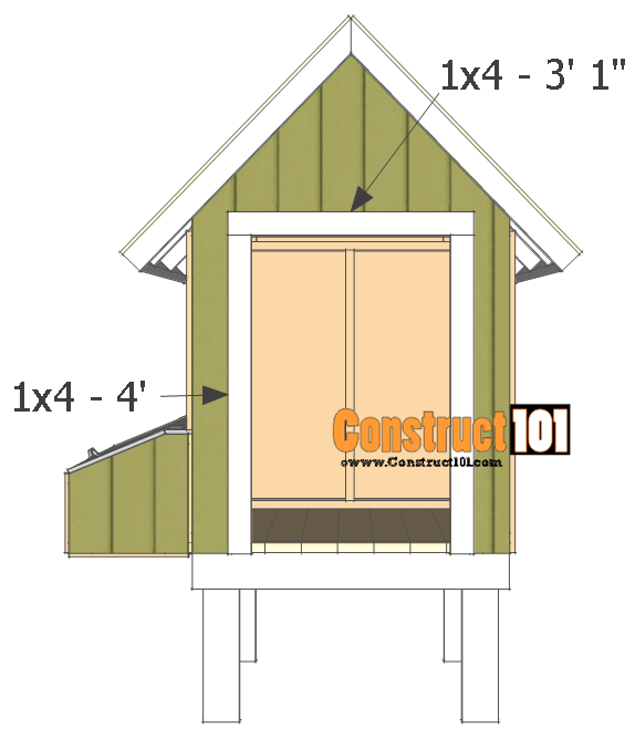 chicken coop plans - design #2 door trim