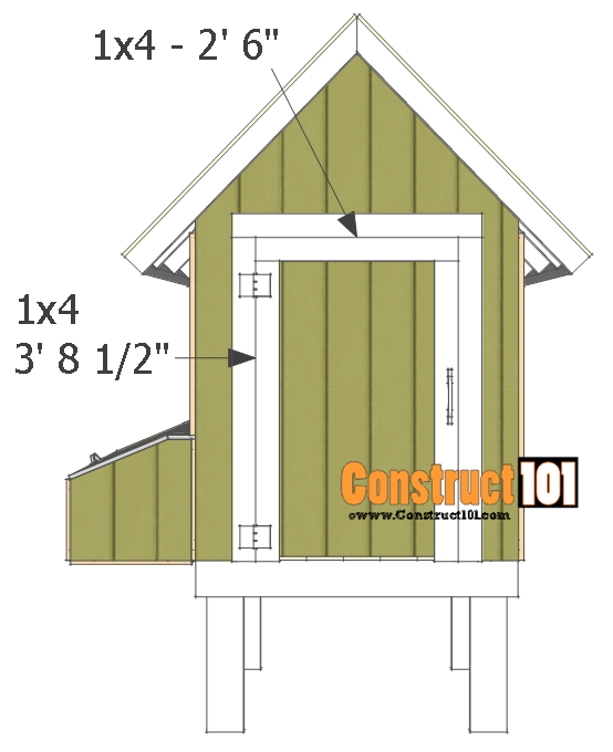 chicken coop plans - design #2 building the door