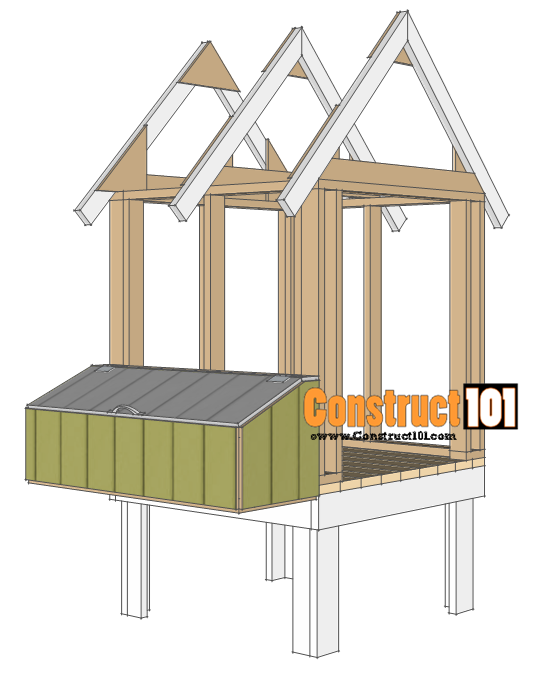 install the chicken coop nest box
