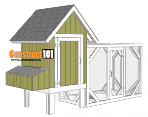 chicken coop plans - design #2 overview