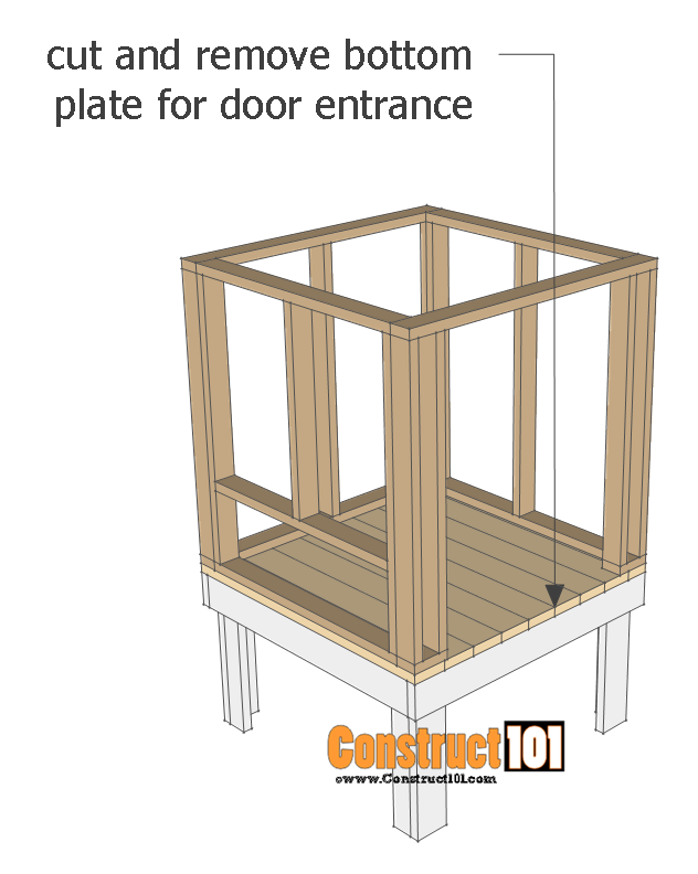 chicken coop plans - design #2 install wall frames