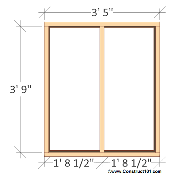 chicken coop plans - design #2 right wall frame