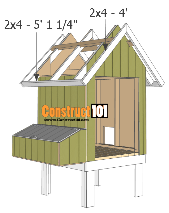 chicken coop plans - design #2 roof trim