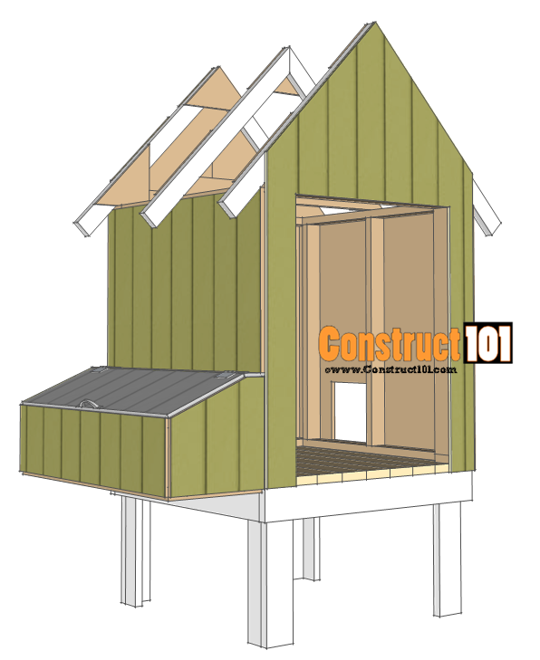 chicken coop plans - design #2 install exterior siding