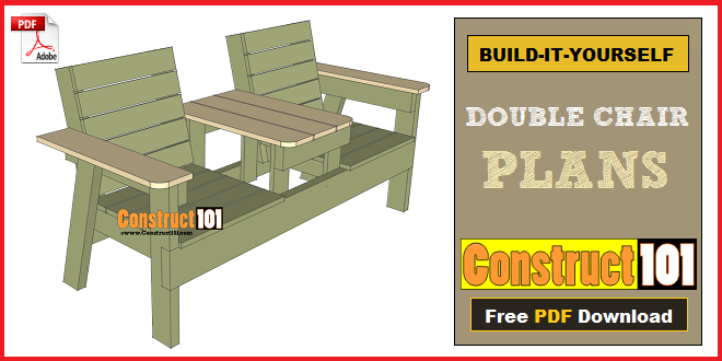 Double chair bench plans step by step plans construct101 double chair bench plans solutioingenieria Image collections
