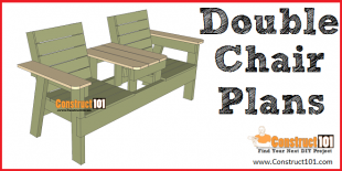 Double chair bench plans - free PDF download - Construct101