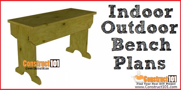 Outdoor / indoor bench plans - free PDF download - Construct101