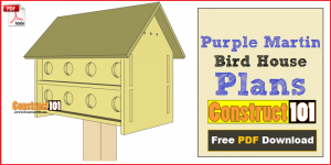 purple martin bird house plans