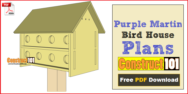 Purple Martin Bird House Plans - 16 Unit - Construct101