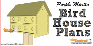 Purple martin bird house plans - free PDF download - Construct101