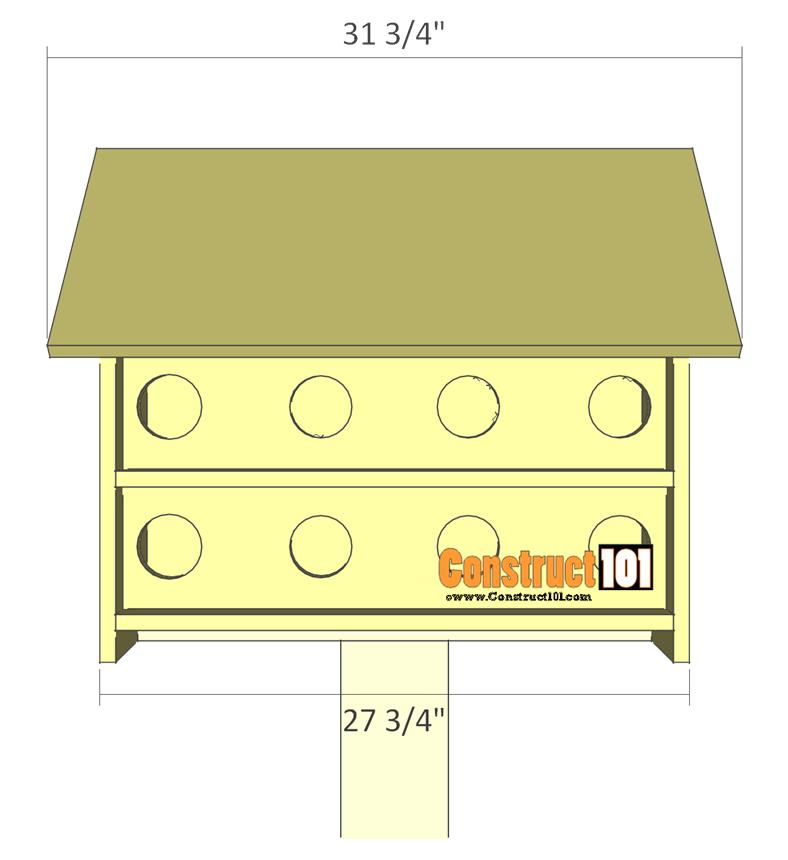 purple martin bird house plans overview