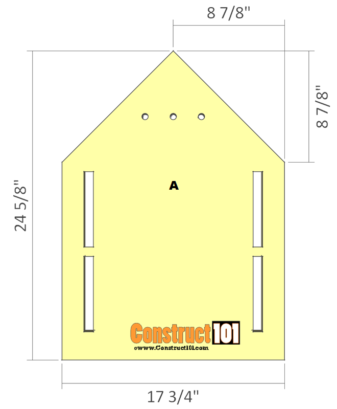 purple martin bird house plans step 1