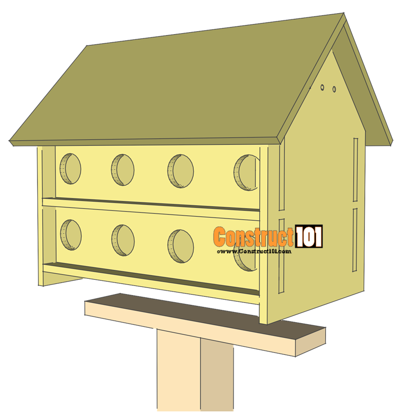 purple martin bird house plans step 11