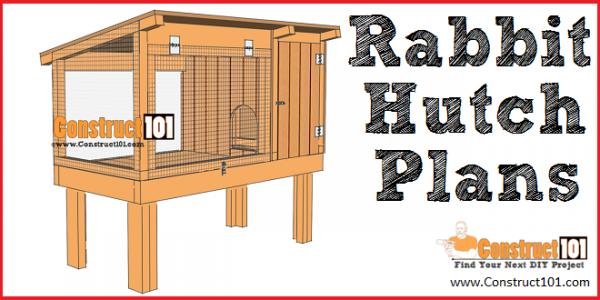 Rabbit hutch plans - free PDF download - Construct101