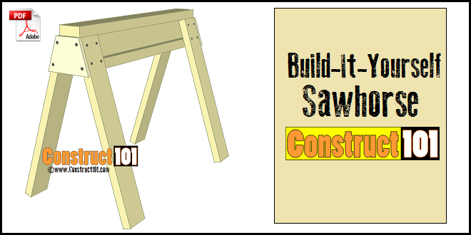 Sawhorse Plans PDF Download Construct101