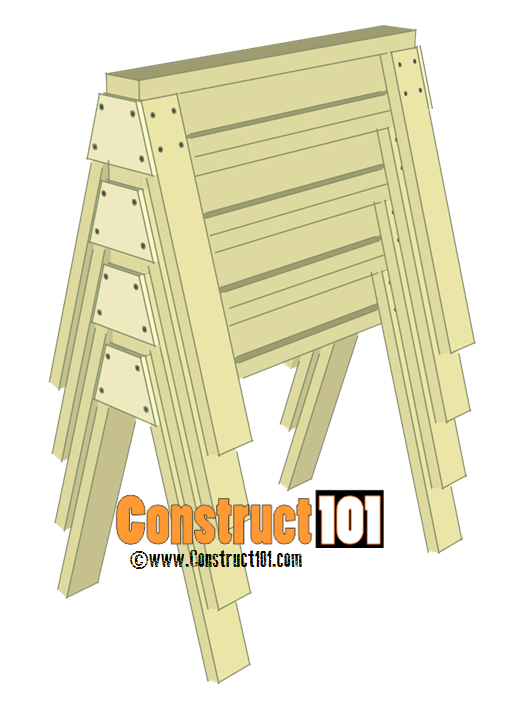 sawhorse plans stacked